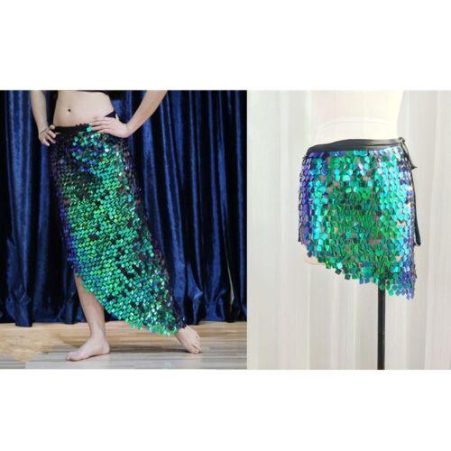 Belly Dancer Dancing Sequin Long Short Hip Scarf Wrap Skirt Beach Wrap Skirt