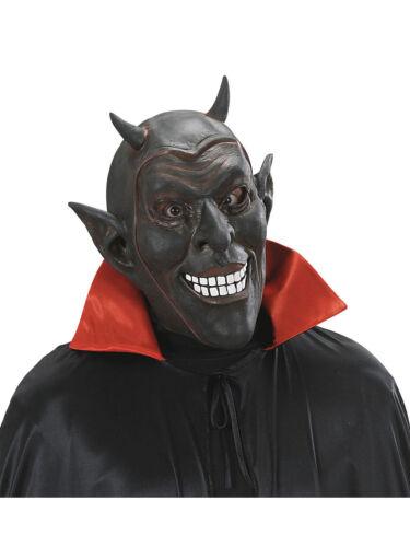 Latex masque rieur Diable Noir Halloween Mardi Gras