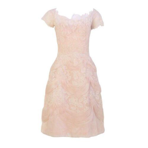CEIL CHAPMAN 1950s Light Pink Lace Cocktail Dress - image 1