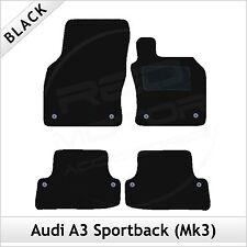 Audi A3 Mk3 Sportback 5-Door 2012 onwards Tailored Carpet Car Floor Mats BLACK
