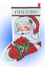 Cross Stitch Kit ~ Design Works Winking Santa Claus Christmas Stocking #DW5959