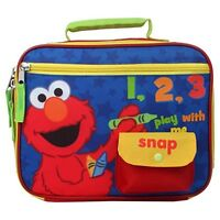 Sesame Street Elmo Lunch Tote - Play With Me, New, Free Shipping