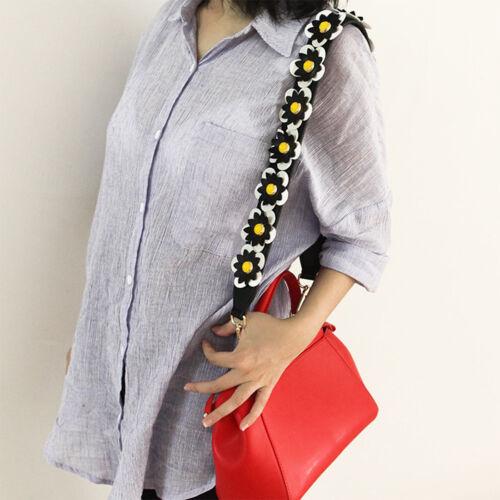 HandBag Shoulder Replacement Leather Strap Colorful Flower Rivet for Bucket Bags
