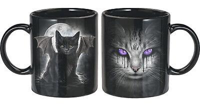 Bat Cat Tassen Set von Spiral 2 Stck. schwarz Gothic Kaffeebecher Cat's Tears