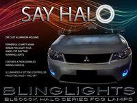 White Halo Fog Lamps Driving Light Kit For 2007-2012 Mitsubishi Outlander