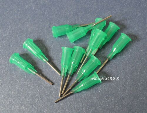 "50pcs 1//2/""  Blunt dispensing needles syringe needle tips 18Gauge  Green"