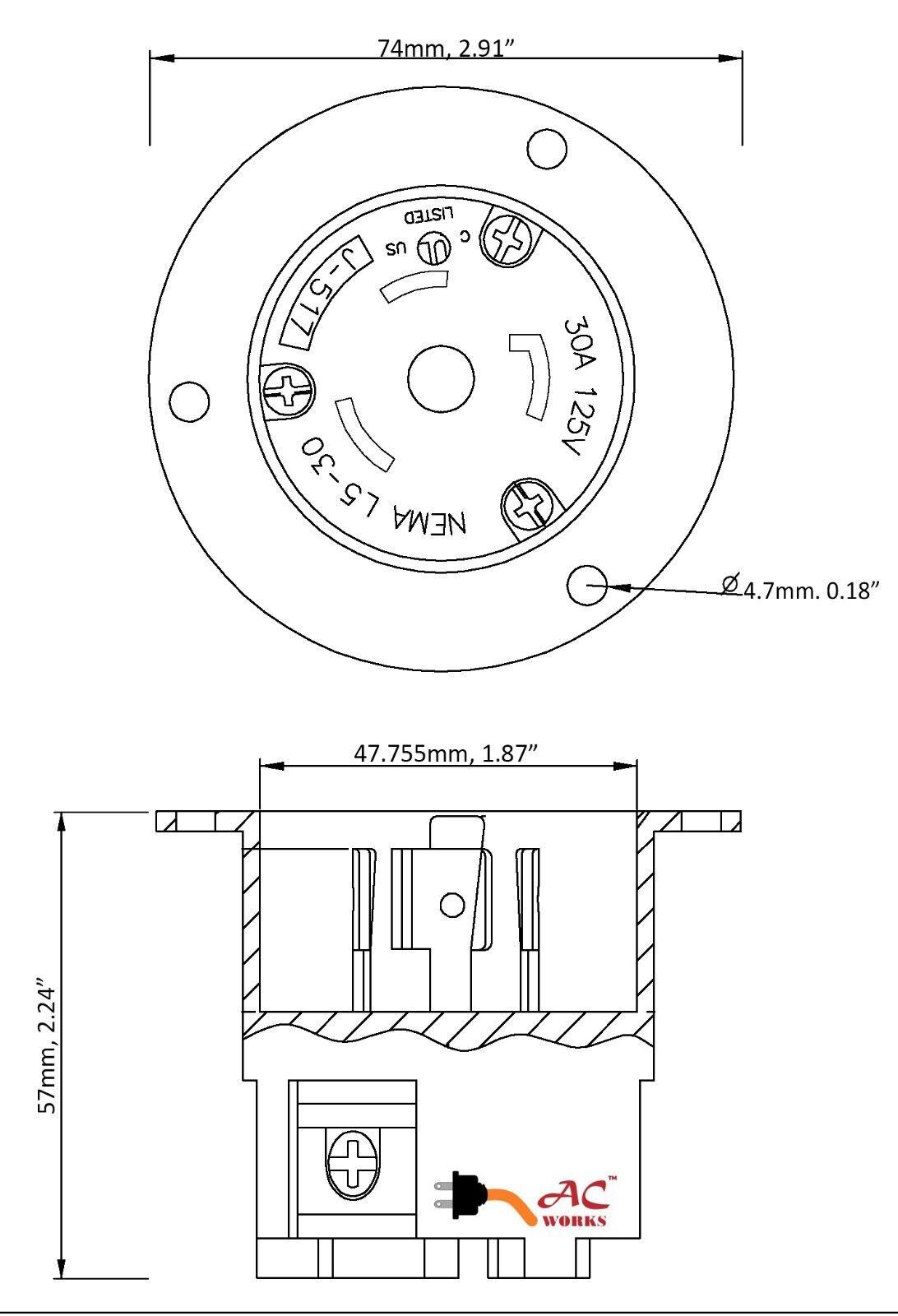 l5 30r wiring diagram database NEMA L6 -30 Wiring nema l5 30r wiring diagram database l5 30r and l6 30r receptacle 30 flanged