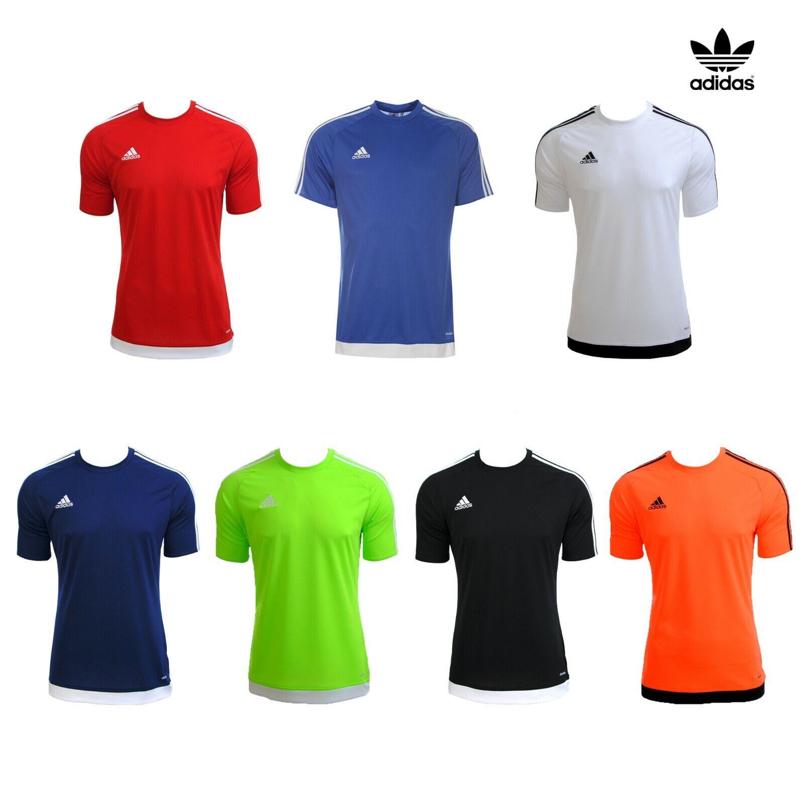 evitar Situación suma  Mens Adidas Estro 15 Climalite Short Sleeve T Shirt Top Football Size S M L  XL | eBay