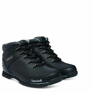 Timberland-Euro-Sprint-Black-Nubuck-reflektierende-Herren-Wanderstiefel-Stiefel-TB-0a17jr001