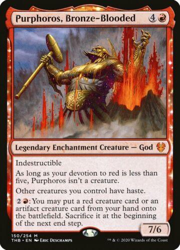 Bronze-Blooded ~ Theros Beyond Death ~ MTG ~ Pack Fresh Foil ~ Purphoros