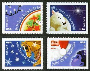 #5247-5250 Christmas Carols, Singles, Excellent État Any 4 =