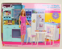 Mattel - Barbie Doll - 2002 Living In Style Barbie Kitchen Playset Box