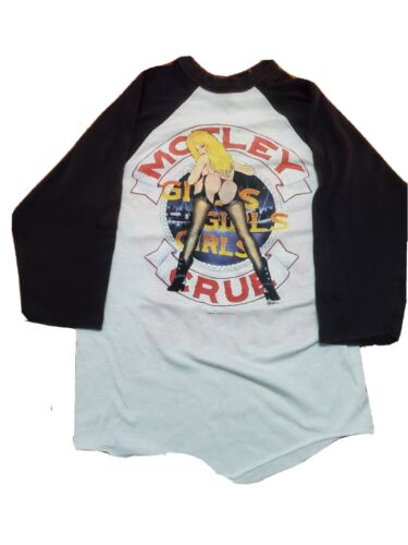 Motley Crue Bad And Boogie 1987 Vintage T-Shirt
