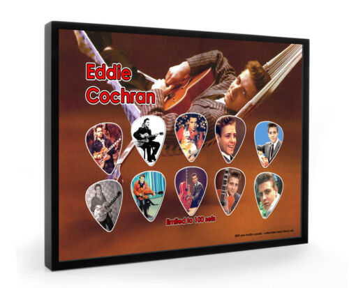 Eddie Cochran Guitar Pick Framed Display Ltd To 100