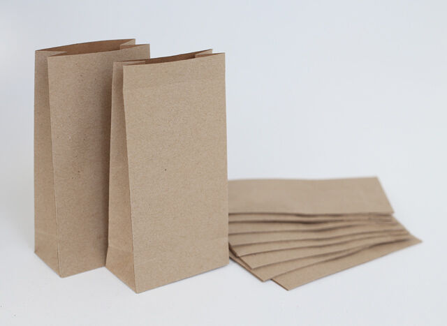 20x Small Brown Paper Kraft Bags Favour Party Lolly Bags & Wedding Lolly Buffet