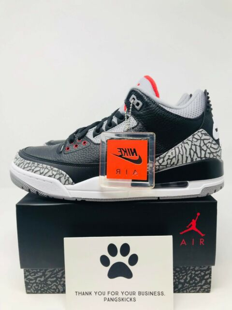 detailed look a1b7a 003b3 Nike Air Jordan Retro 3 OG Size 9 Black Cement 2018 Mens SNEAKERS Shoes