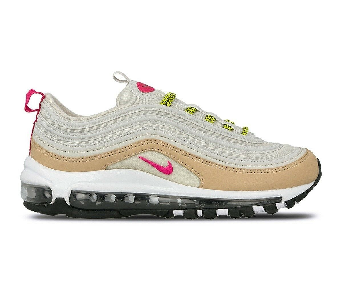 Nike Wmns Air Max 97 Light Bone Deadly Pink 921733-004 Size 7 UK