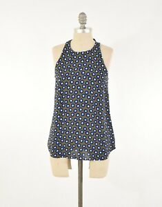 Nwt in Tank Dotty Green Shoulder Olive Cut 4 crew Print Sleeveless Blouse J Tqwvtax