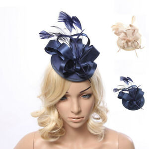 Image is loading Large-Hat-Feather-Fascinator-Hat-Clip-Hatinator-Veils- 31c090ae523
