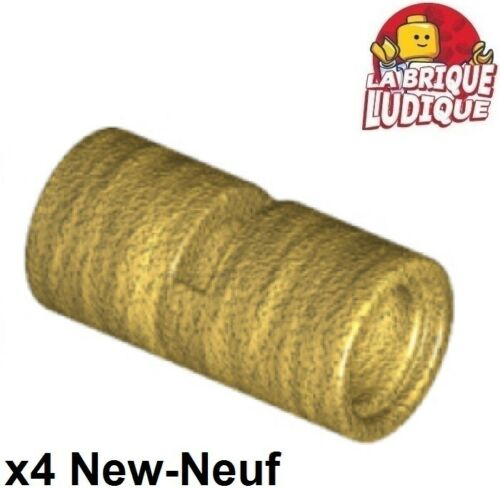 Lego technic 4x Pin Connector tube connecteur 2L pipe tube or//gold 62462 NEUF