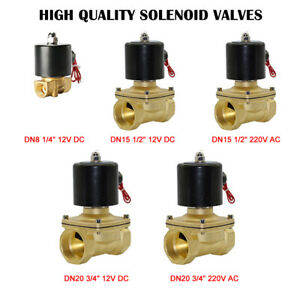 2-Way-Solenoid-Valve-Air-Water-N-C-Gas-Oil-Normally-Closed-12v-240v-BSP-AU