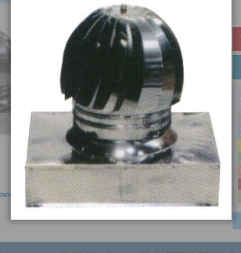 ASPIRATORE INOX FUMI  BASE//QUADRATA 32X32 CM STUFA CAMINETTO FUMAIOLO GIREVOLE