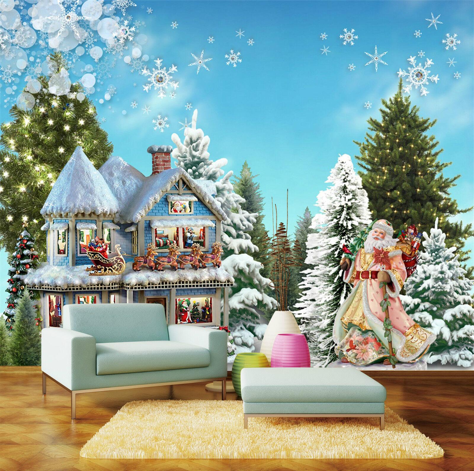 3D Weihnachten Schöne Baum 23 Fototapeten Wandbild Bild Tapete Familie Kinder