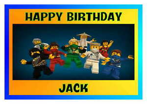 Image Is Loading Birthday Card Lego Ninjago 16th 18th 21st 30th