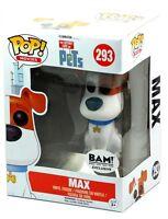 Funko Pop Movies Bam Exclusive Secret Life Of Pets 293 Flocked Max Figure