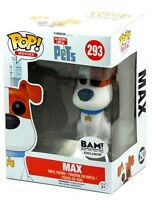 Funko Pop Movies Bam Exclusive Secret Life Of Pets 293 Flocked Max Figure