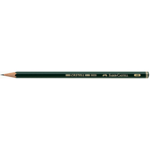 Single Single - Castell 9000 Black Lead Pencils HB Faber-Castell