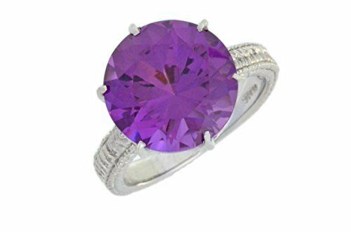 3.5 Ct Alexandrite Round Ring .925 Sterling Silver