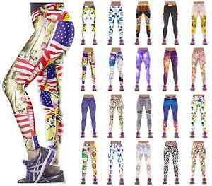 EFA2Z Womens Sports Leggings Fitness Yoga Gym Running Jogging Trousers 1001-1020