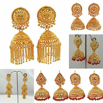 Jwellmart Indian Gold Plated Traditional Ethnic Jhumka Jhumki Earrings Women Ebay