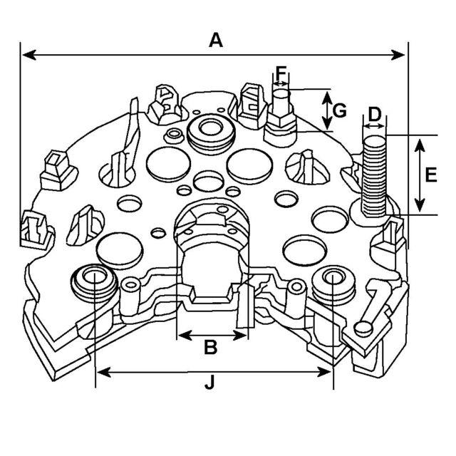 Hd Lucas A127 Type Alternator Rectifier 3 Screw Terminals Nissan