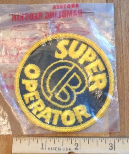 Super CB Operator Round CB Radio Embroidered Patch Badge