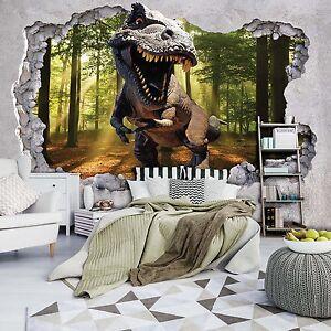Tapeten-Fototapeten-Tapete-LOCH-IN-DER-WAND-3D-Natur-Dinosaurier-Dino-3FX11034P4