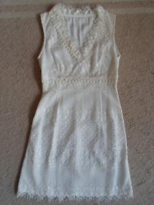 36 Weiss Spitzenkleid In Spitze S Kleid pOcfOa