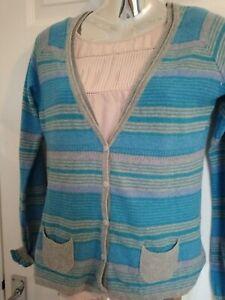 Womens Fat Face summer weight cardigan size 12 Cotton/wool mix