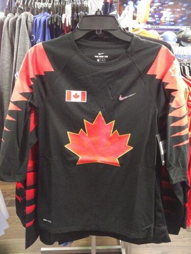 Team Canada Ladies Women's 2018 Olympic Black 3/4 Raglan T Shirt