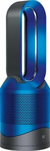 Dyson - HP01 Pure Hot + Cool 800 Sq. Ft Air Purifier, Heater and Fan - Iron/Blue