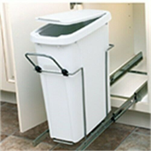 Kv Pull Out Single Bin 35qt 9-5 8in Wide, PartNo SBM10-1-35WH, by Knape and Vogt