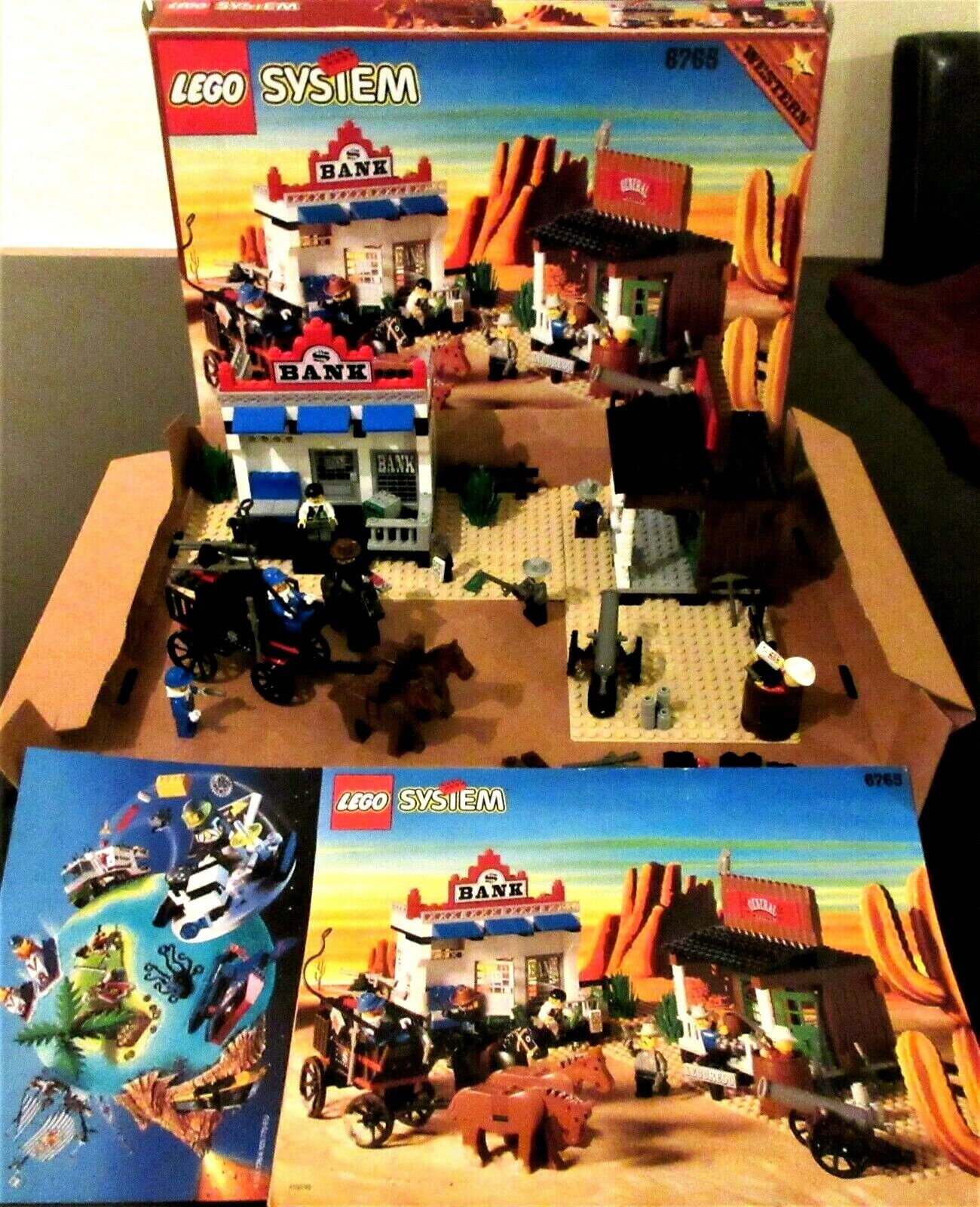 VINTAGE RARE LEGO SYSTEM SET 6765 WESTERN - Gold CITY JUNCTION - 1996 BOXED