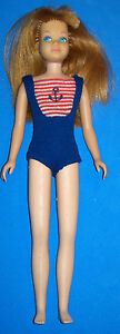 Vintage-Skipper-Bendable-Leg-Doll-1030-Titian-Red-Hair-Barbie-Sister-OSS-BL-039-64