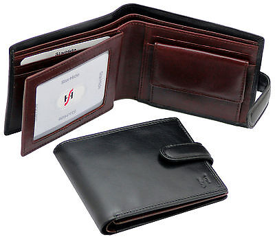 Starhide Mens RFID Real Leather Wallet ID Window Coin Purse Gift Boxed 835 Brown