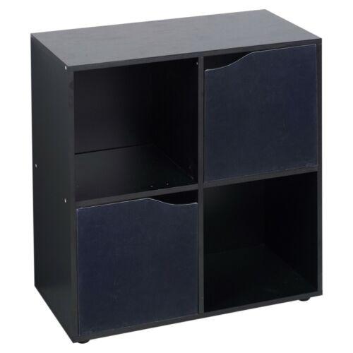 4 6 9 Cube Wooden Bookcase Shelving Display Storage Wood Shelf Door Living Room