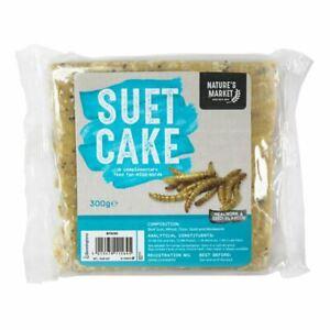 Wild-Bird-Feed-Feeder-Food-Suet-Cake-Block-Ball-with-Mealworm-Fat-Seeds-300g
