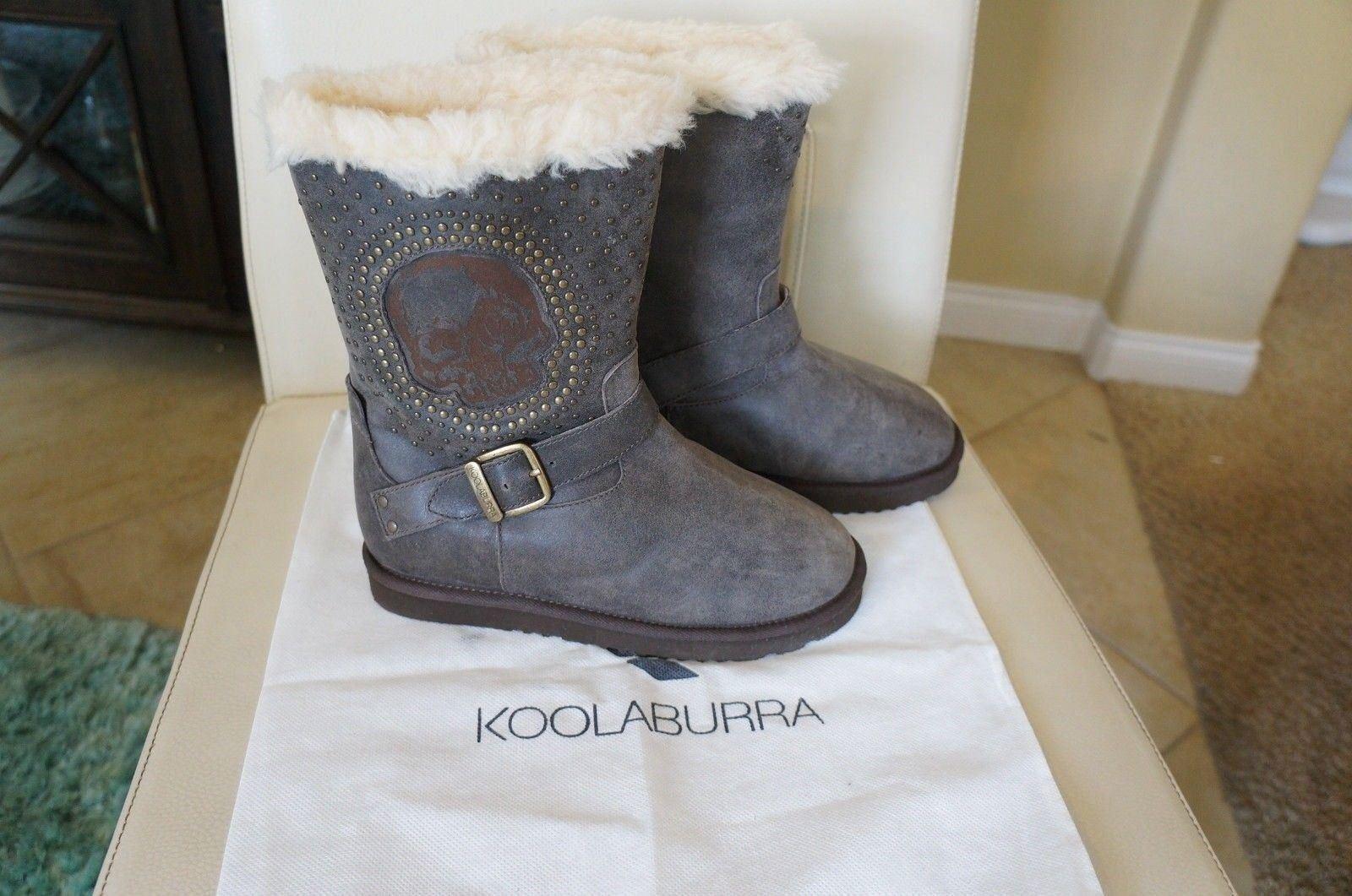 Nuevo estilo de KOOLABURRA Cuero helexa Moto 9  de de de alto Shearling botas Duna Talla 7  tienda hace compras y ventas