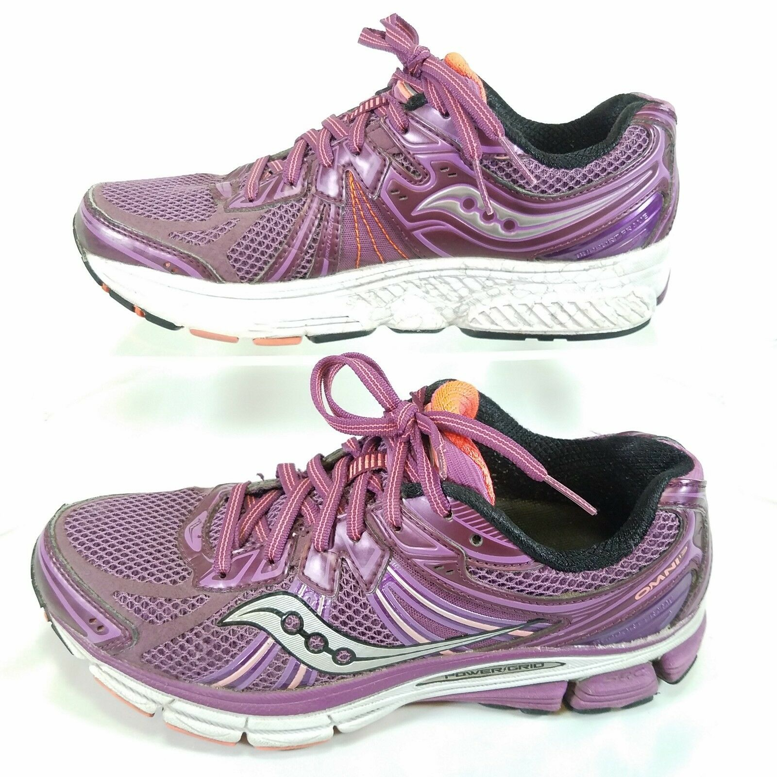 Women's Saucony Omni 13 Running shoes Size 7.5 US Purple Power Grid workout Q10