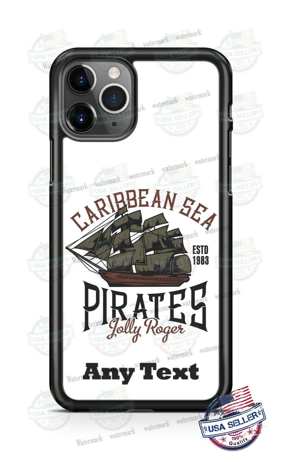 For Apple iPod Touch 4th 5th 6th Rubber Hard Case Cover Jolly Roger Pirate